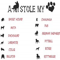 A Dog Stole My Heart Vinyl Decal / Sticker  (MADE IN THE USA)