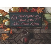 'Give Thanks' Wood Sign  (MADE IN THE USA)