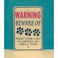 Beware of Dog Metal Sign  (MADE IN USA)