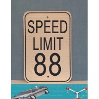 Speed Limit 88 Metal Sign  (MADE IN USA)
