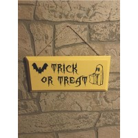 Trick or Treat Halloween Wood Sign  (MADE IN THE USA)